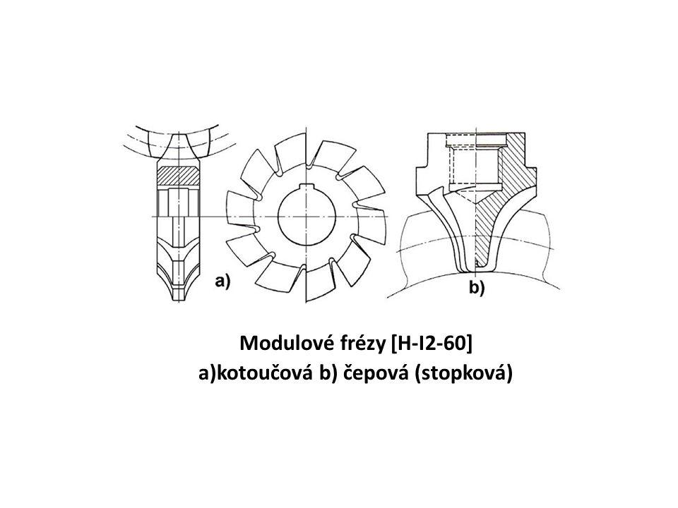 Modulové frézy [H-I2-60] a)kotoučová b) čepová (stopková)